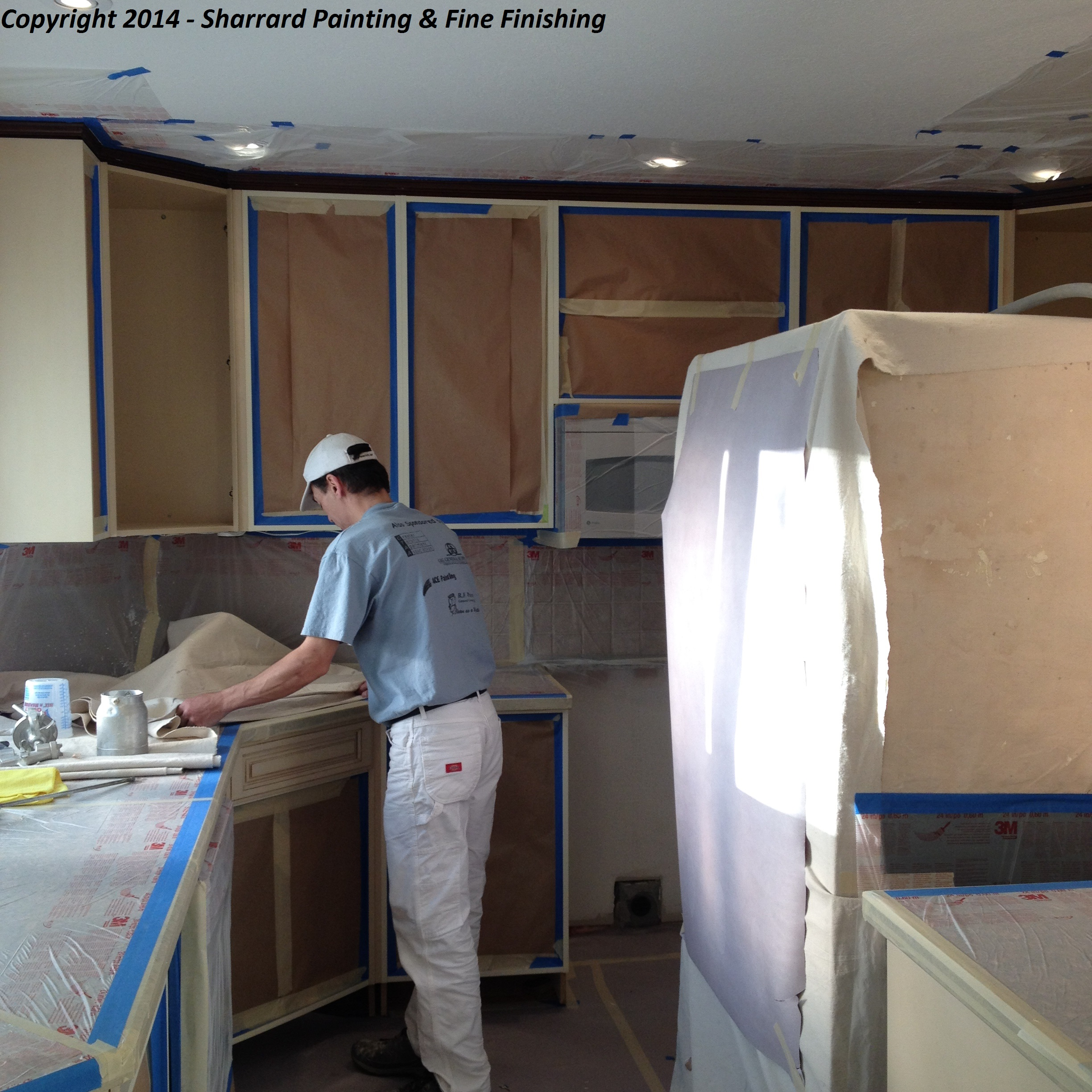 Professional Kitchen Cabinet Painting and Refinishing, Spray