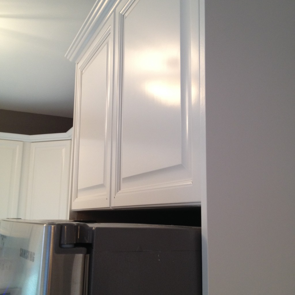 Spray Painted Kitchen Cabinets - After