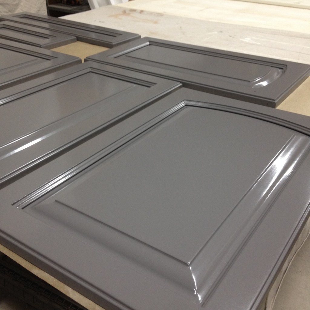 Spray Painted Cabinet Doors