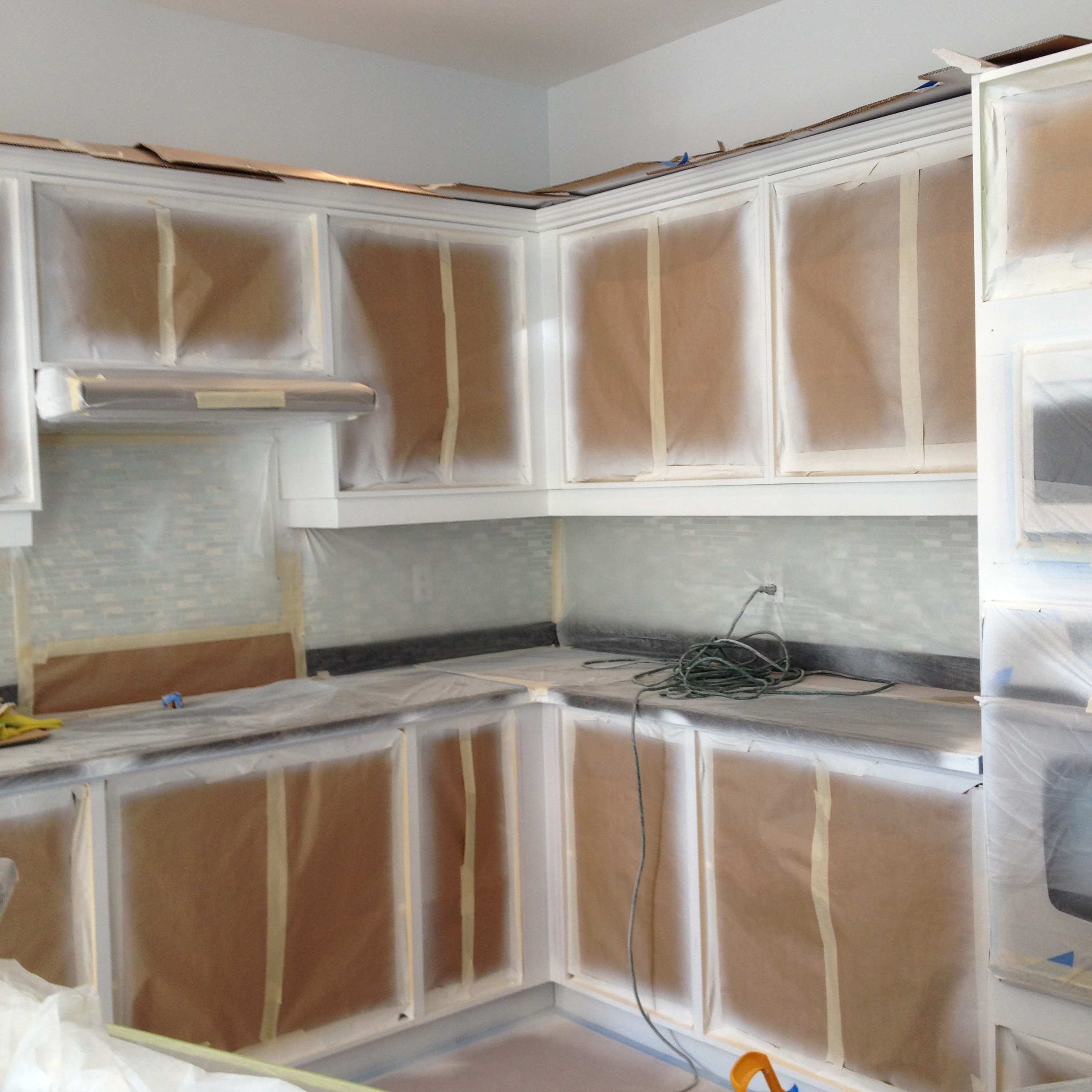 Permalink to Spray Painting Kitchen Cabinets