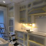 Spray Painted Kitchen Cabinets in Burlington