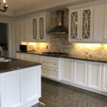 Spray Painted Kitchen Cabinets
